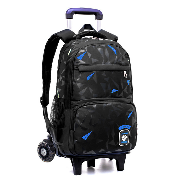 Grades 4-9 waterproof Removable Children School Bags With 2/6 Wheels Stairs Kids Trolley Schoolbag Book Bags boys girls Backpack School Bags
