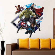 60*60CM The Superhero New Avengers 4 Endgame DIY 3D Sticker Childrens room Decoration Moved PVC Stickers Cartoon Waterproof