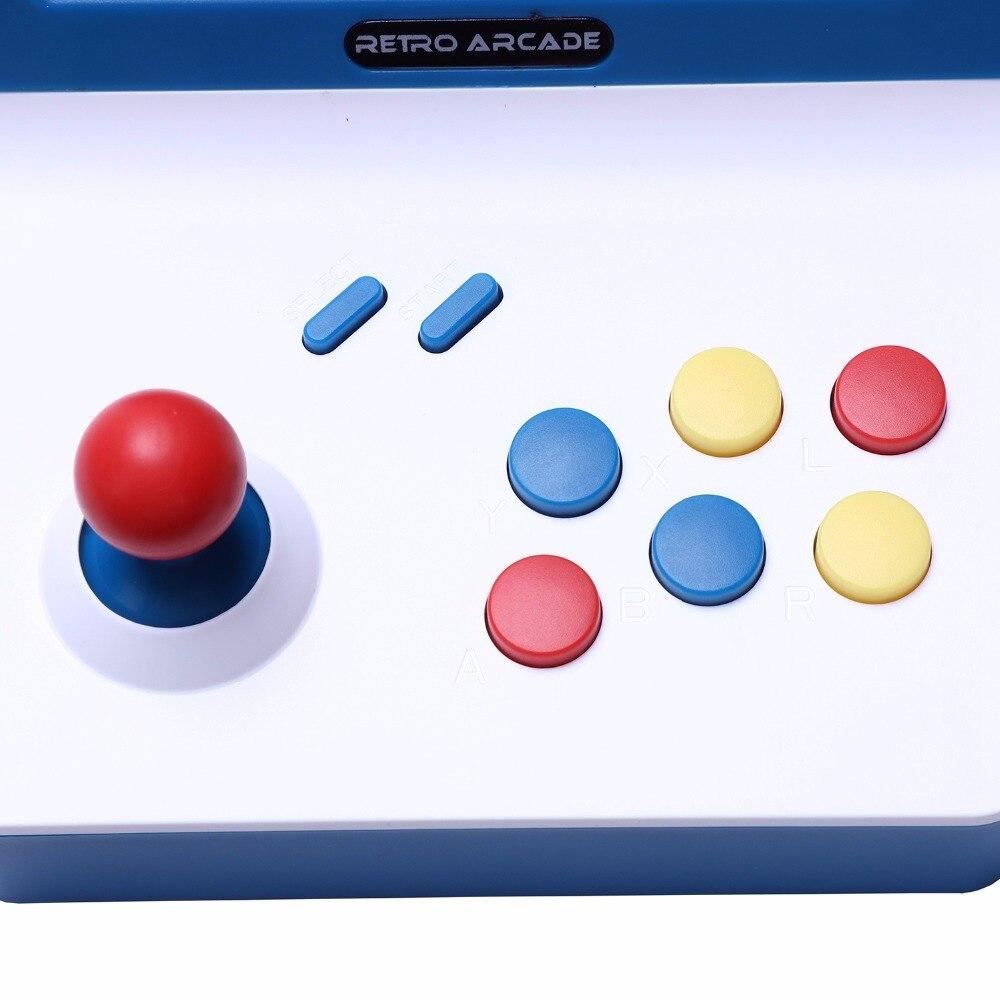 Meilleures offres Powkiddy A8 Console d'arcade rétro Console de jeu joueur de jeu Machine 3000 jeux classiques manette contrôle AV Out 4.3 - 3