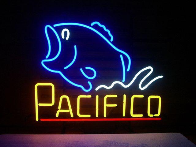 Custom PACIFICO CLARA MEXICAN CERVEZA Glass Neon Light Sign Beer Bar