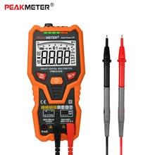 Voltímetro digital inteligente pm8248s, multímetro digital profissional com gráfico de frequência ncv, teste de transistor de temperatura