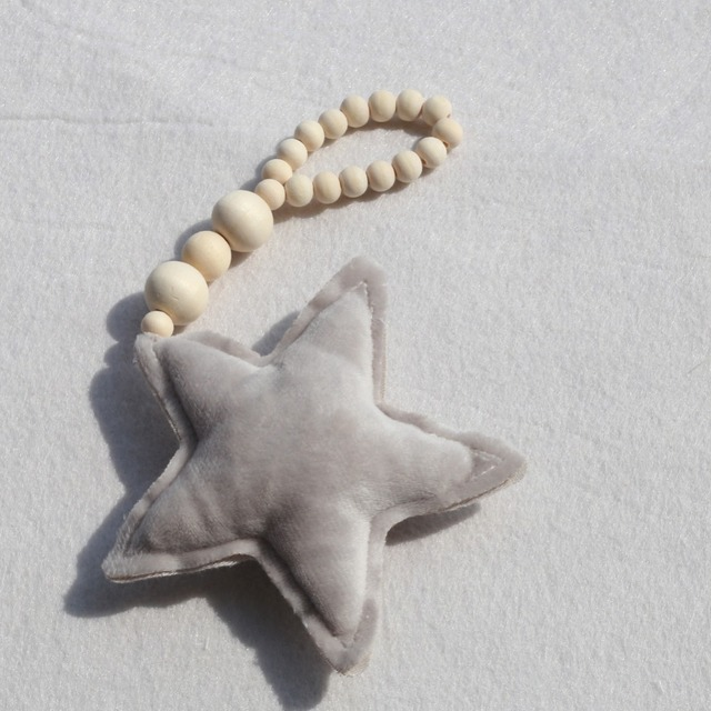 Nordic Style Wooden Beads Star Dream Catcher Wall Hanging Decor