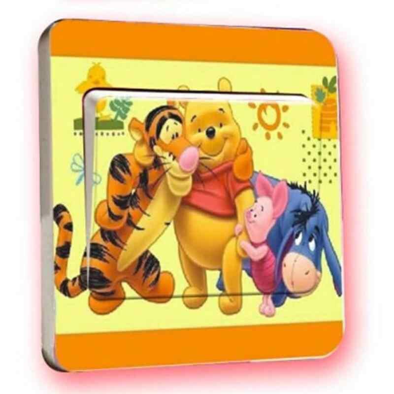 1 Chiếc Loạt Phim Hoạt Hình Gấu Nhỏ PVC Công Tắc Đèn Dán Phòng Ngủ Phòng Khách Phòng Trẻ Em Dán Tường Trang Trí Tranh Tường