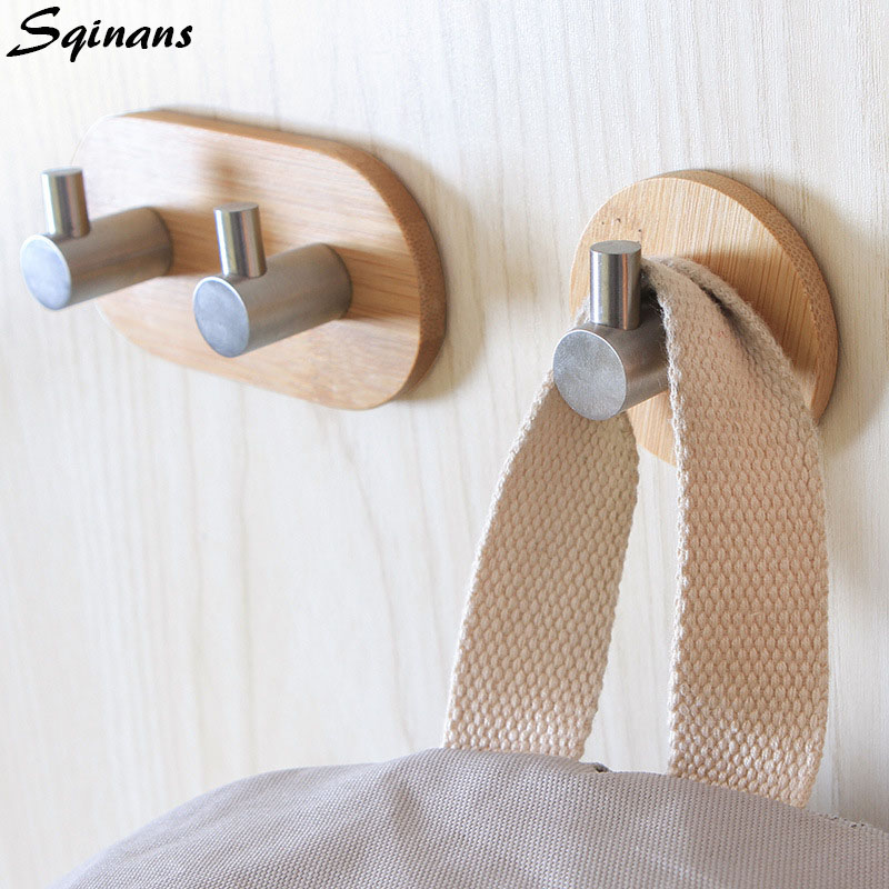 Stainless Steel Sticky Wall Mounted Coat Hook Decorative Key Holder Wall Shelf Organizer Bathroom Rack Towel/Hat/Clothes Hanger