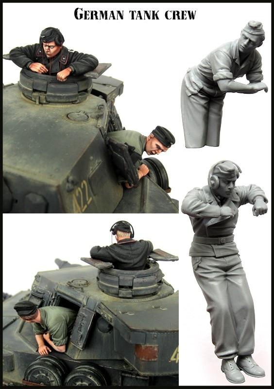 Resin Kits 1 35 WW2 Germany summer tank commander  Unpainted Kit Resin Model Free Shipping
