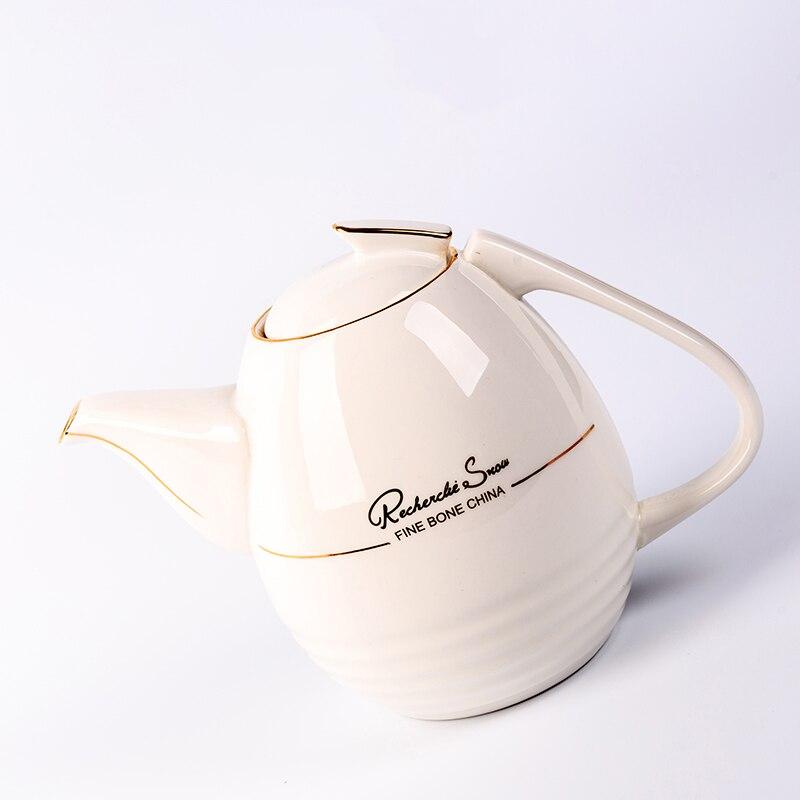 1100 мл Европейский стиль кофейник термостойкий керамический фарфор фильтр Чайная посуда/послеобеденный чай Молочный чайник - 4
