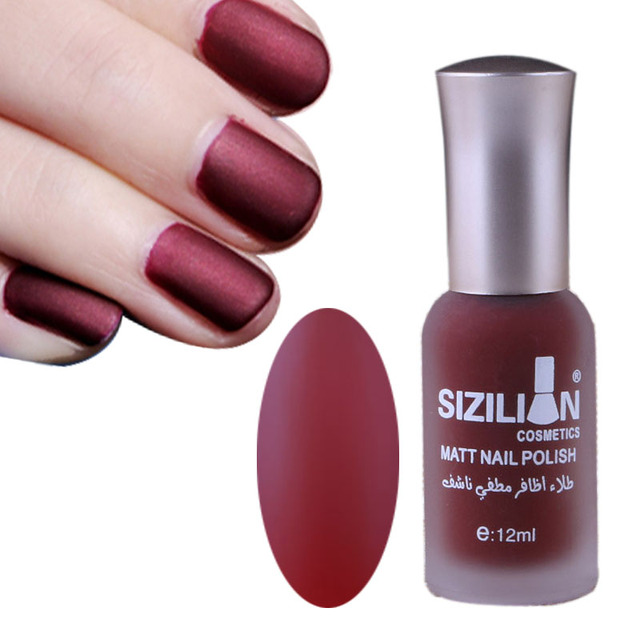 New 12ml Matte Dull Nail Polish Fast Dry Long Lasting Art Varnish Lacquer