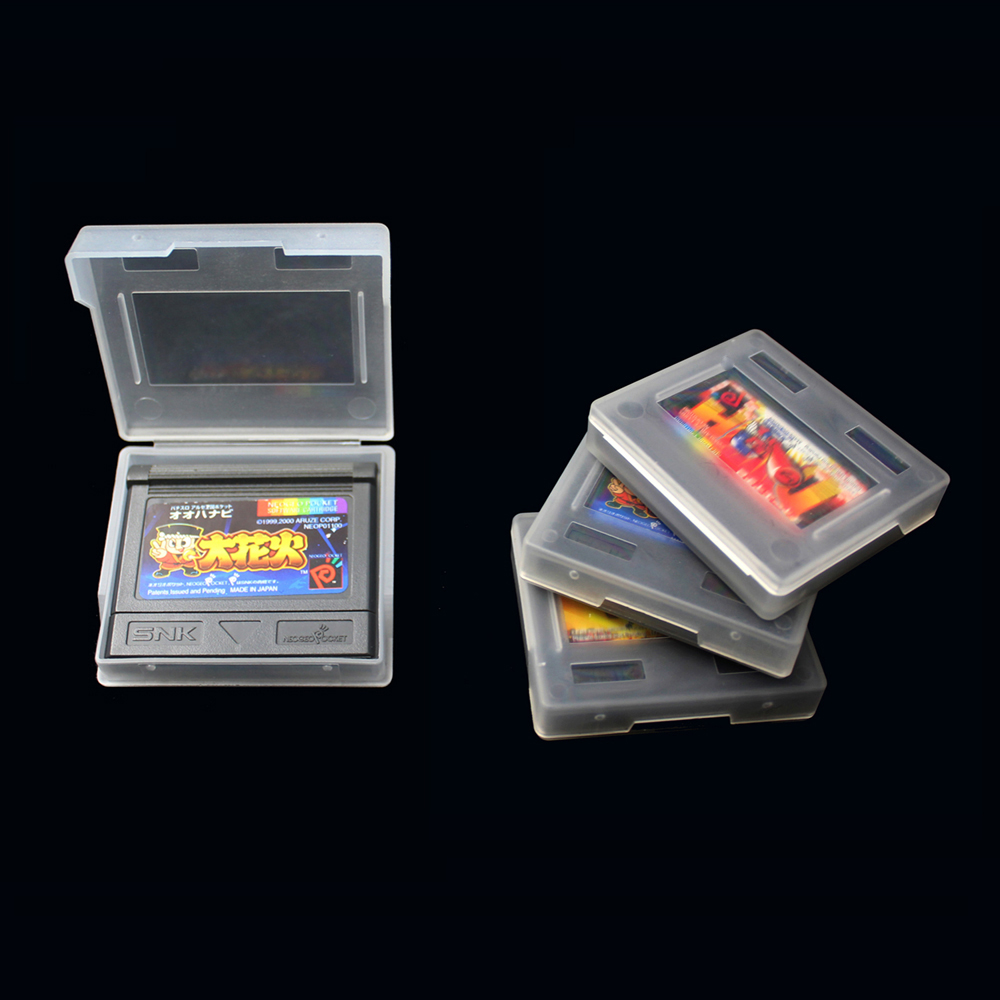 100pcs For SNK NeoGeo Pocket color N G P C Plastic Clear Game Cartridge BOX Cases protective shell case(China)