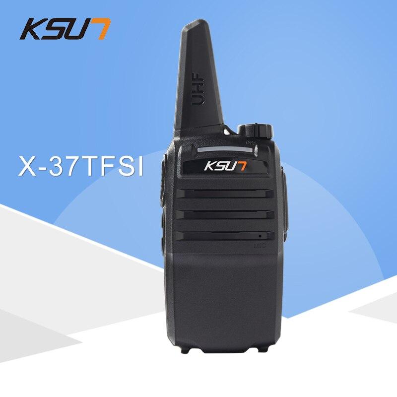 1PCS KSUN X-37TFSI Walkie Talkie 6W High Power 4000mAh Li-ion Batteri Ny BUXUN Dual Band Tvåvägs Radio
