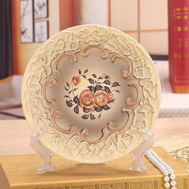 Modern European style decorative wall dishes porcelain decorative plates vintage home decor crafts room decoration figurine & Modern European style decorative wall dishes porcelain decorative ...