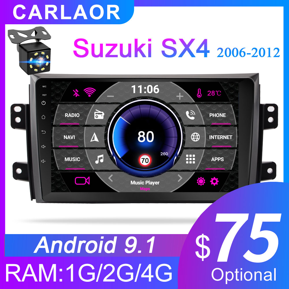 Carlaoer 2 din Android gps For Suzuki SX4 2006 2007 2008 2009 2010 2011 2Din