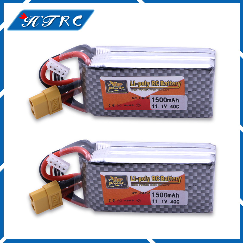 2 pcs Lithium Polymer Power Lipo Battery 11.1V 1500mAh 3S 40C XT60 Plug For RC Helicopter Car Truck Hobby Drone Parts Bateria 381725 polymer lithium battery 3 7v cel 110mp3 battery bluetooth battery lithium battery