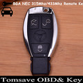 Original Size 3 Buttons BGA NEC Remote Key 315MHZ/433MHZ With NEC Chip for Benz Nec Key BGA Key (2005-2008) VVDI2 BGA Sytle