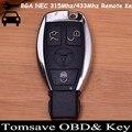 Tamanho 3 Botões originais BGA NEC Remoto Chave 315 MHZ/433 MHZ Com Chip NEC para Benz Nec-chave BGA Chave (2005-2008) VVDI2 BGA Sytle