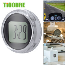 TiOODRE New Mini Precision Motorcycle Clocks Watch Waterproof Stick-On Motorbike Mount Watch Moto Digital Clock With Stopwatch(China)