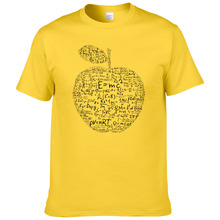 Summer apple mathematical formula t shirt men Equation formu