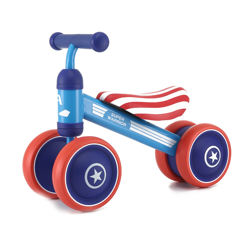 Children Bicycle Kids Balance Bike Four Wheels Kids' Bicycle Kick Scooter Baby Walker Tricycle Bike Gift For Baby 1-2 Years 12 14 16 kids bike children bicycle for 2 8 years boy grils ride kids bicycle with pedal toys children bike colorful adult page 4