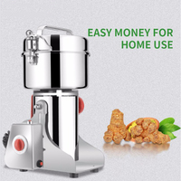 Grains Spices Cereals Dry Food Grinder Stainless Steel 800g Mill Grinding Machine Home Swing Type Medicine Flour Powder Crusher