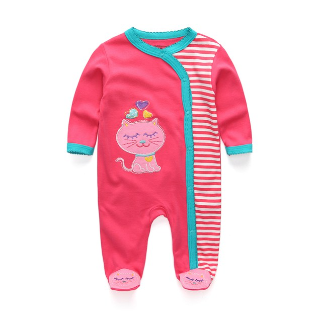 Милый детский комбинезон удобная одежда для новорожденных 0-9 м одежда для малышей, новорожденных одежда для малышей - Цвет: baby girl