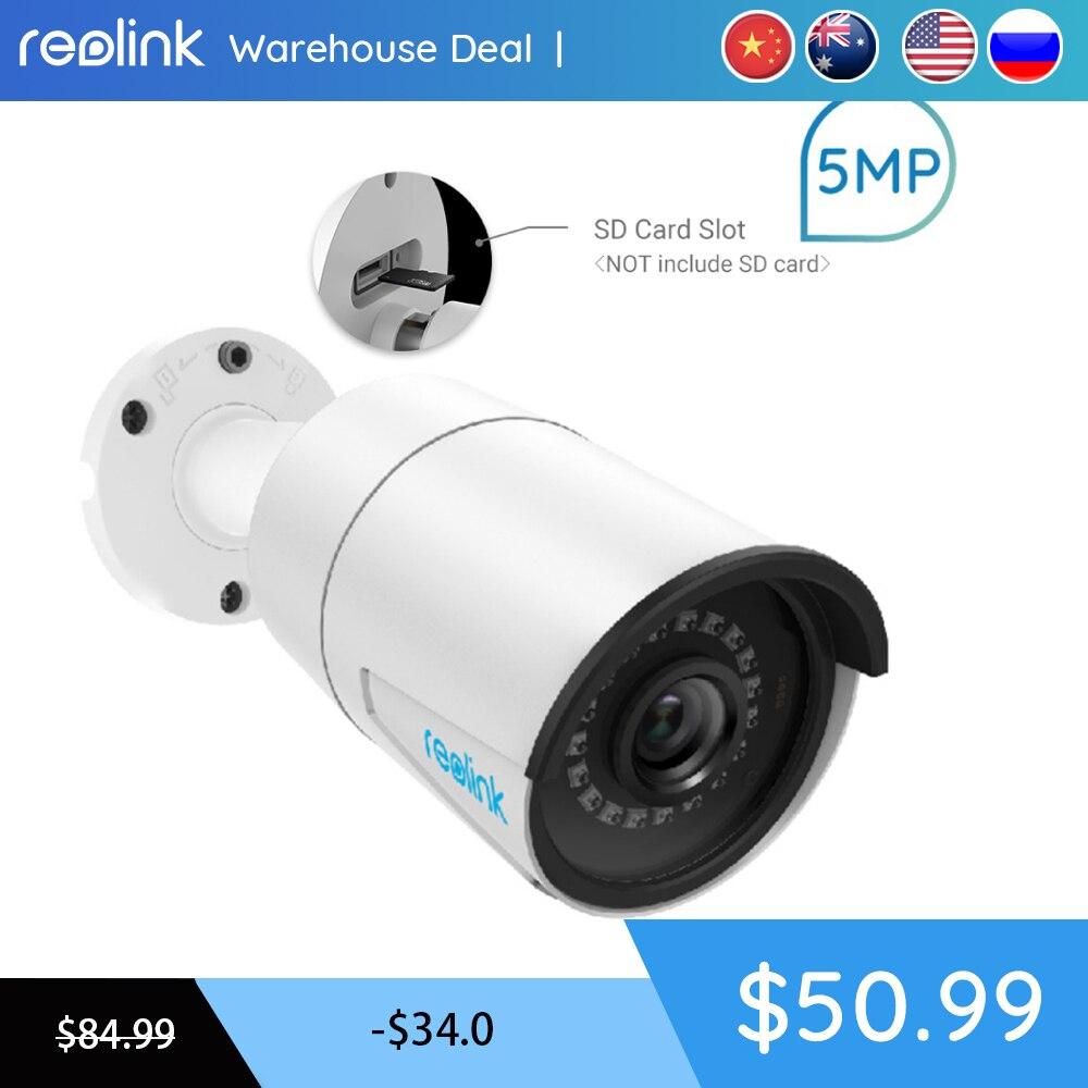 Slot para cartão SD Câmera IP PoE Reolink 5MP 30 m de Infravermelho de Visão Noturna HD Impermeável Ao Ar Livre Video Security Vigilância RLC-410-5MP