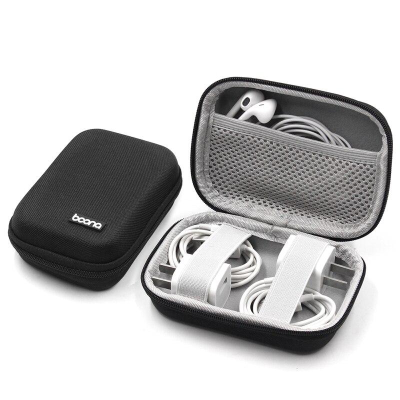 Earphone Bag Box Headphones Portable Case Headphone Accessories Storage Bag Cable Organizer for Headphones