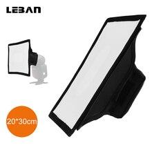 Godox 20cm x 30cm universal dobrável mini flash difusor softbox para godox, canon, nikon flash