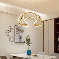 Modern LED Dining Room Light Kitchen Stairwell Creative Chandelier Lustre AC90 260V Remote Dimming Chandelier Fixtures