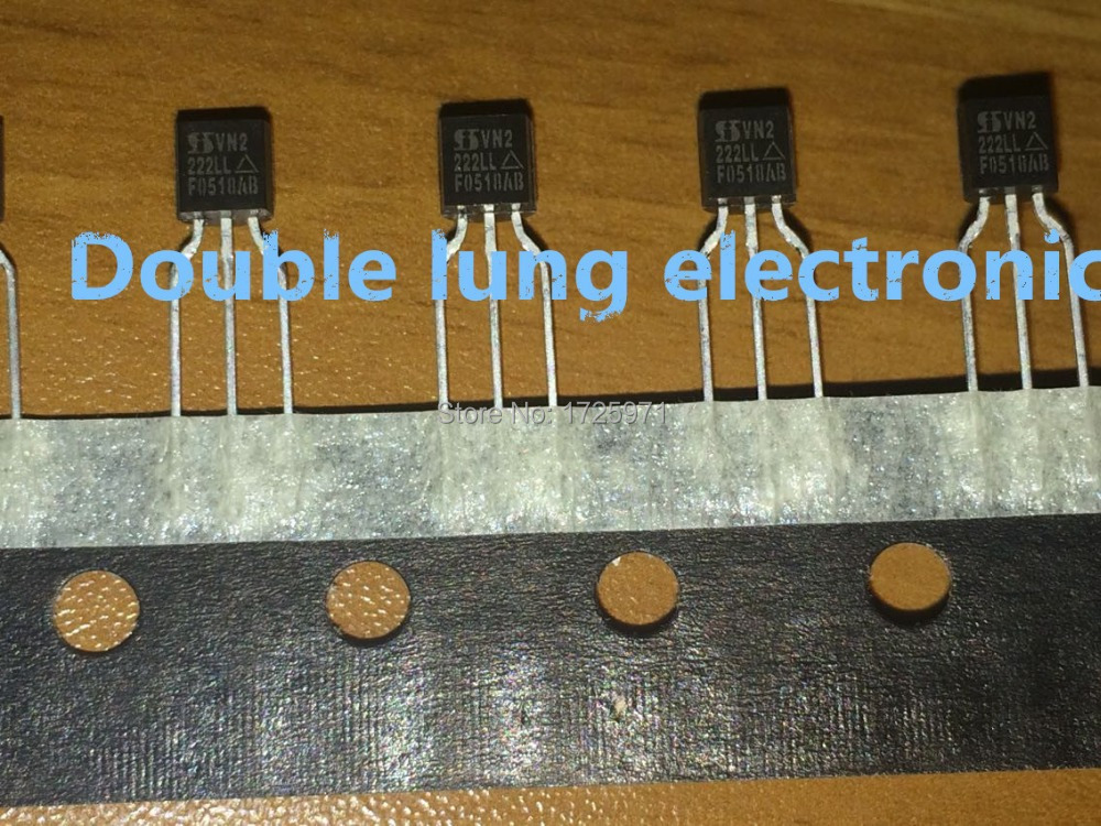 10 pcs VN2222LL-G VN2222LL  Microchip  MOSFET N-Channel  60V  0,75A   TO92  #BP