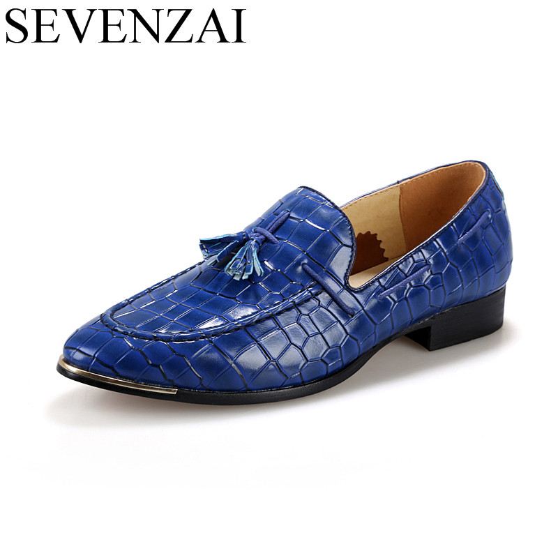 high quality 2016 new design unique genuine leather men shoes zapatos hombre snake luxury brand formal casual mens loafers shoes high quality men shoes crocodile genuine leather flat shoes business luxury wedding mens leather loafers oxford zapatos hombr