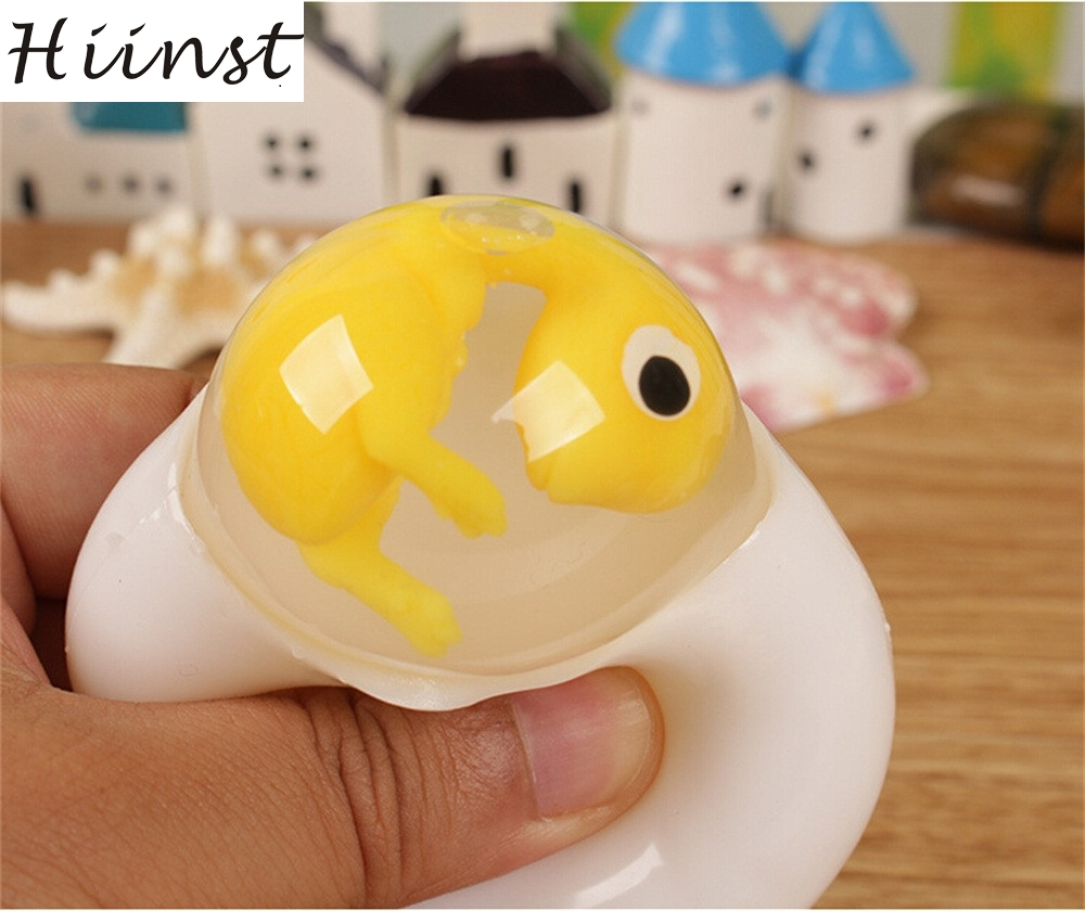 HIINST Novelty Decompression Dinosaur Protein Shell Toy Vent Water Polo Creative Transparent Egg Drop Ship Aug14