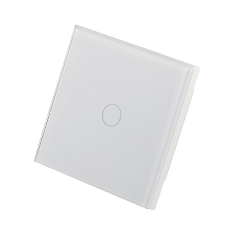 WiFi Smart Switch 1CH Light Wall Switch Waterproof Touch Panel APP Control Work with Amazon Alexa Voice Control Timing UK Plug sonoff t1 smart wifi rf app touch control wall light switch 1 2 3 gang 86 type uk panel wall touch light switch alexa nest