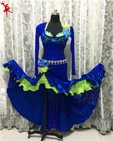 Живота Танцы Восточный танец индийских цыган Танцы танцы костюм костюмы одежда Бюстгальтер, пояс цепи шарф кольцо юбка комплект с платьем к