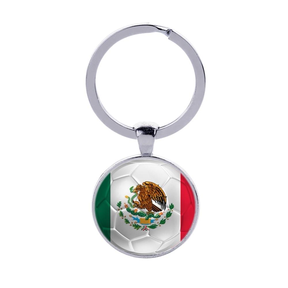 Diligent World Cup Keyring Football Keychains Key Ring Counries Flag Peru Sweden Tunisia Senegal Soccer Key Chains Souvenir Modern Design