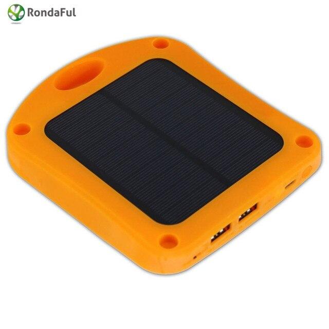 Dual USB 6000 мАч Внутренней Мобильная Powerbank для Смартфона Внешний Аккумулятор с Солнечной Панелью Солнечной Энергии Банк Dropshipping