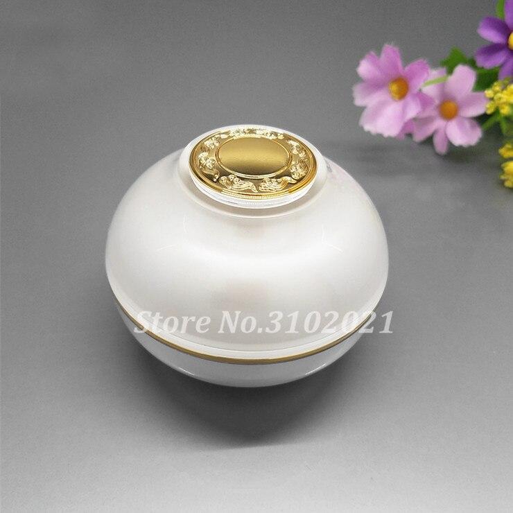 10pcs/lot 5/10/30/50g white Acrylic eye/face cream jar 30/50/80/120ml cosmetic liquid sprayer/lotion press pump paking bottle