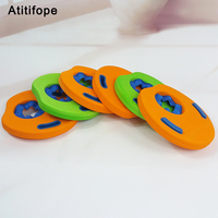 6 pieces Safety free inflation Patchwork Comfortable and soft Children's Swimming Arm Float Orange green Ring Float
