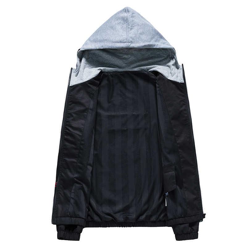 Merk Brief mannen Capuchon Solid Casual Jacket Mannen Slim Fit Stand Jassen Mannelijke Mode Windjack Jas Man; YA047