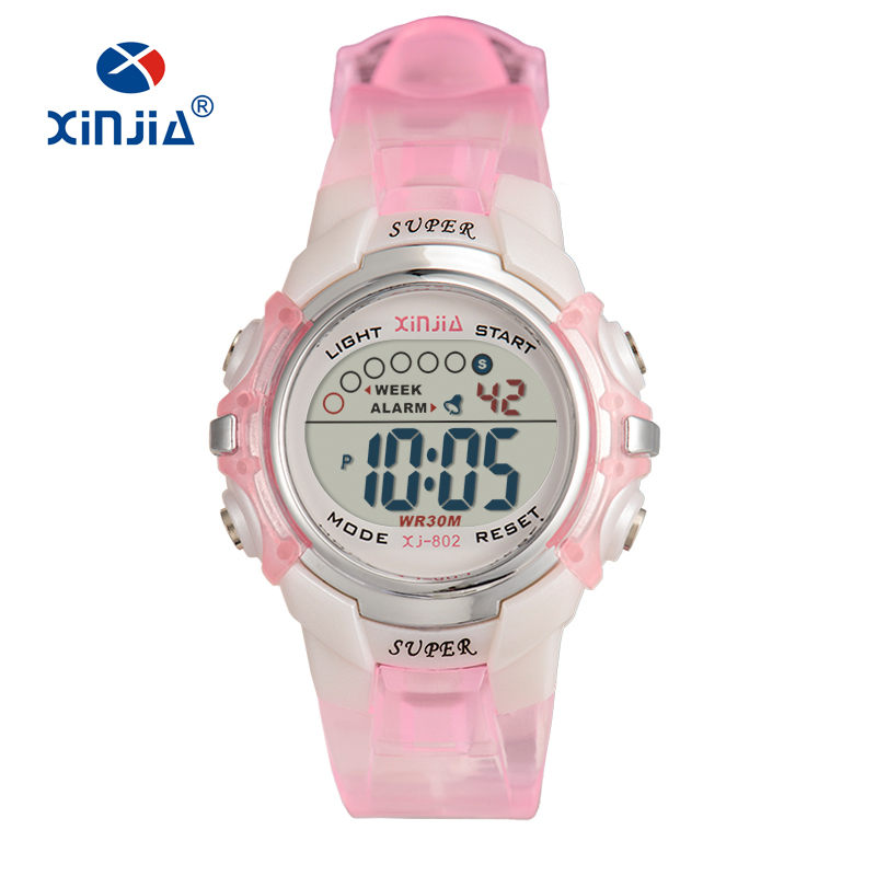 High Quality Jelly Digital Watch Colorfull Fashion Casual Sports Waterproof 30M Children's Watches For Kids XINJIA 802 Relogio