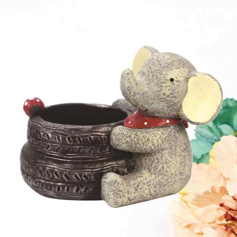 Kawaii criativo decorativo adorável elefante vaso de flores vaso de flores para crianças sala de estar decoração flor vaso decoração para casa