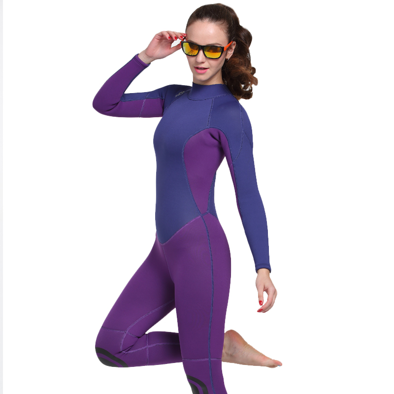SBART Neoprene 3MM Diving Suit Wetsuit Women Warm Winter Swimming Suit Swimwear Wetsuits Women For Spearfishing Wet Suit шторы реалтекс классические шторы alexandria цвет венге молочный венге