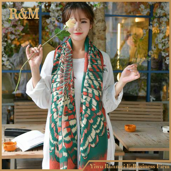 Unique cashmere  thicken popular flower colorful element  patterns  designs scarf perfect for winter gorgeous oversized  scarf