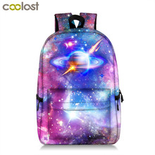 Купить с кэшбэком Galaxy Backpack For Teenager Girls Boy Universe Planet School Bag College Student School Backpack Book Bag Women Men Travel Bags