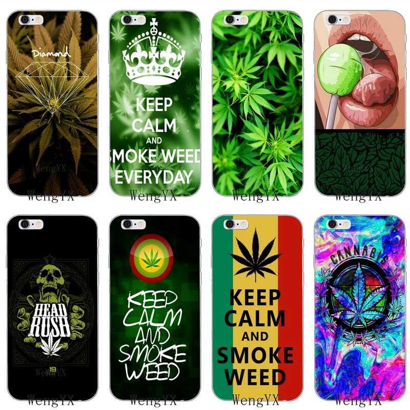 Drug Dealer Money Weed Slim silicone Soft phone case For iPhone 4 4s 5 5s  5c SE 6 6s plus 7 7plus 8 8plus X