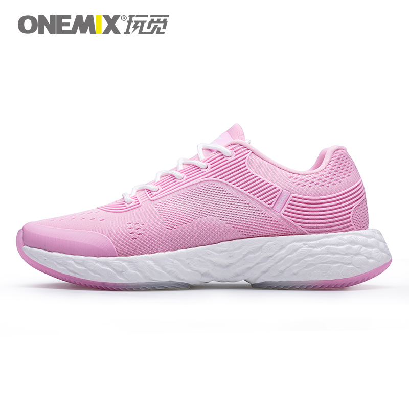 ONEMIX Lightweight Running Shoes Powerful Rebound Breathable Jacquard Vamp Gentle Touch Feeling Women Sneakers Max 7