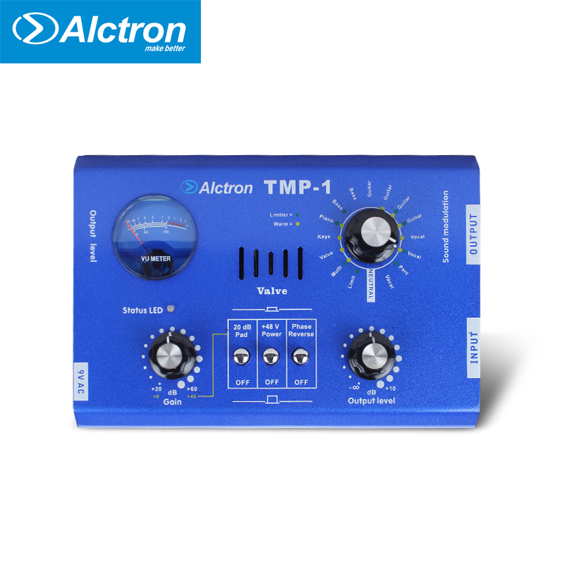 Alctron TMP-1 Portable Earphone Headphone Amplifier 63.5mm Stereo and XLR Jack high quality steel Big Power High Quality Sound high performance stereo amplifier