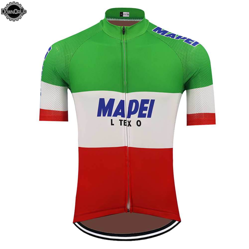 Italy MAPEI cycling jersey men short sleeve bike wear jersey ropa ciclismo team cycling clothing bicycle clothes DOWNORUP