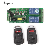 Sleeplion AC 85V~250V 110V 220V RF 4 CH Wide Voltage Wireless Remote Control Switch System Receiver 3 Transmitte 315MHz/433MHz