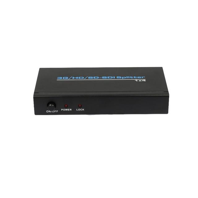 Nouveau séparateur SDI 1x4 3G convertisseur SDI vers AV adaptateur connecteur SDI vers BNC prend en charge la bande passante 2.97 Gbps