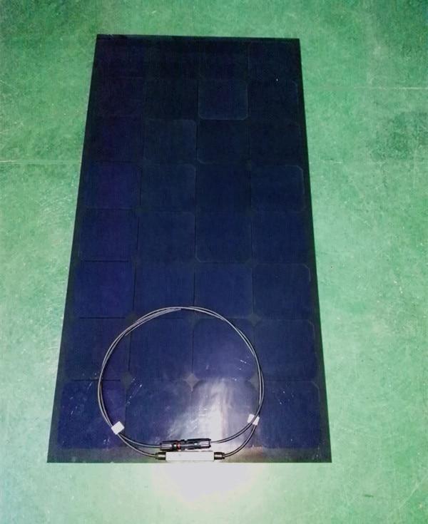 Panneau solaire 100 w Semi Flexible pour batteries solaires 12 v DC, utilisé dans la voiture, puissance d'éclairage de bateau de camping - 2