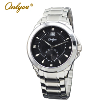 Onlyou Brand Luxury Watch Women Men Business Quartz Watch With Diamond and Date Steel Watchband Ladies Dress Watch Clock 6922